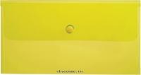 Папка конверт с кнопкой С6 180мкм желтая AKk_06305